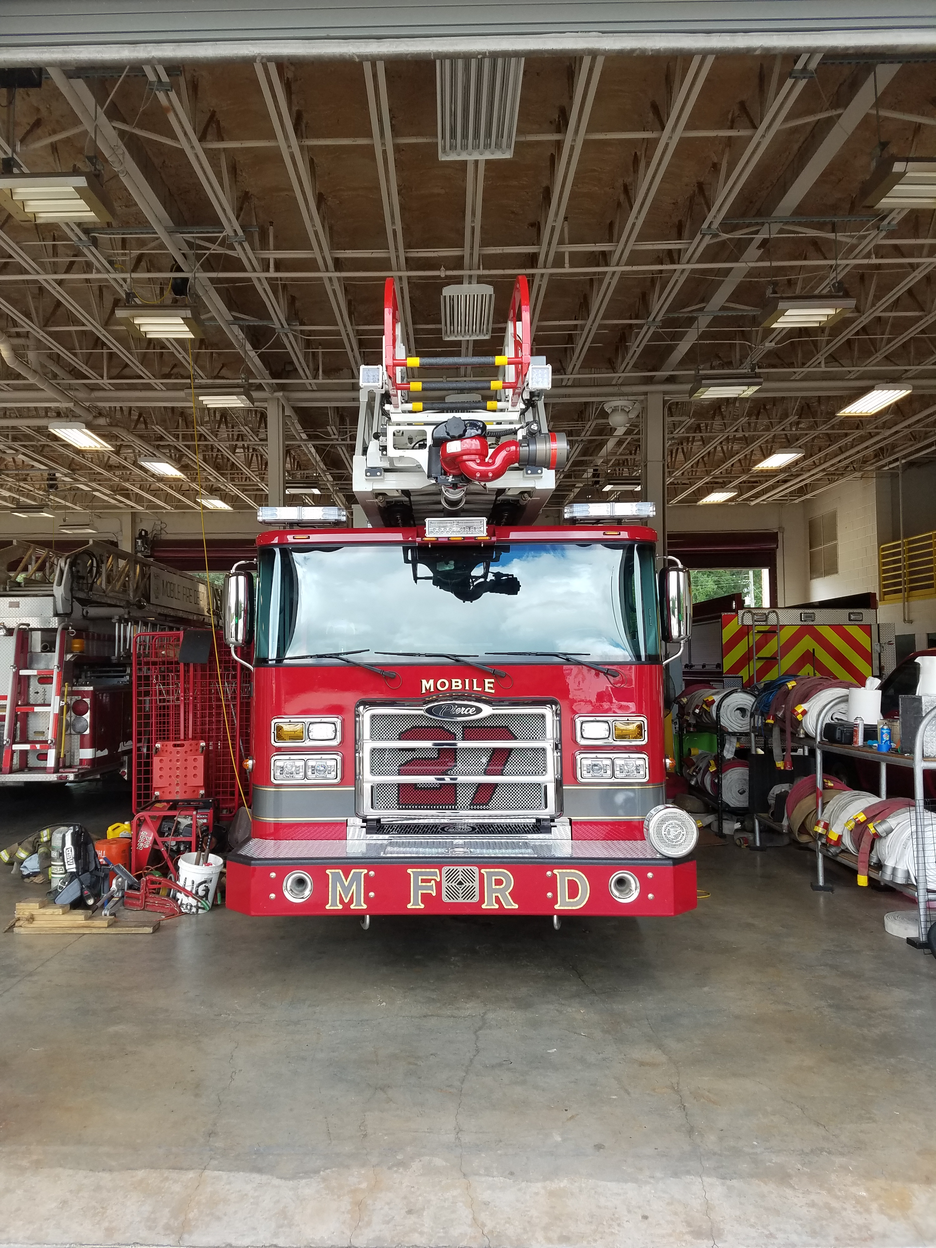 MFRD Takes Possession of New Ladder Truck