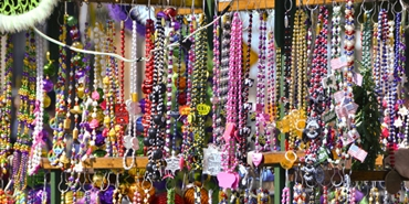 Mardi Gras beads photo